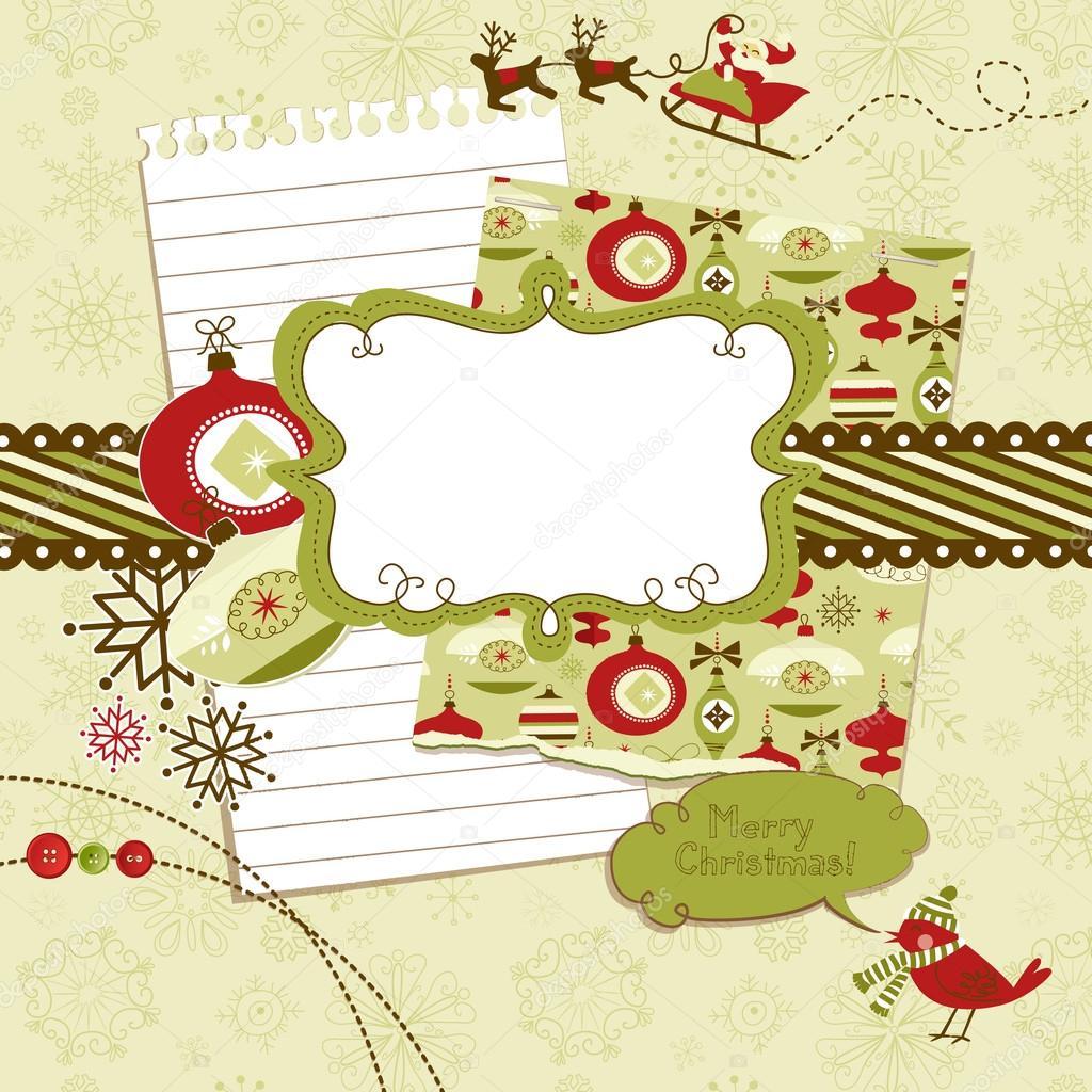 Weihnachten-Scrapbook-Elemente — Stockvektor © AlisaFoytik #35407325