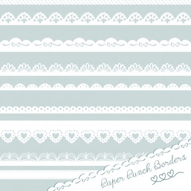 Lace Paper Punch Borders