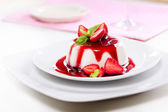 Fancy Panna Cotta With Strawberries