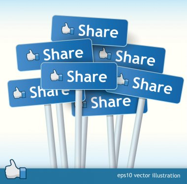 Collection of Share signs