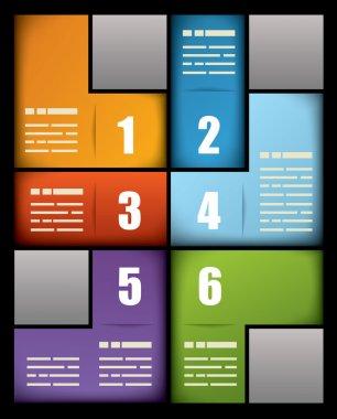 Colorful print presentation template