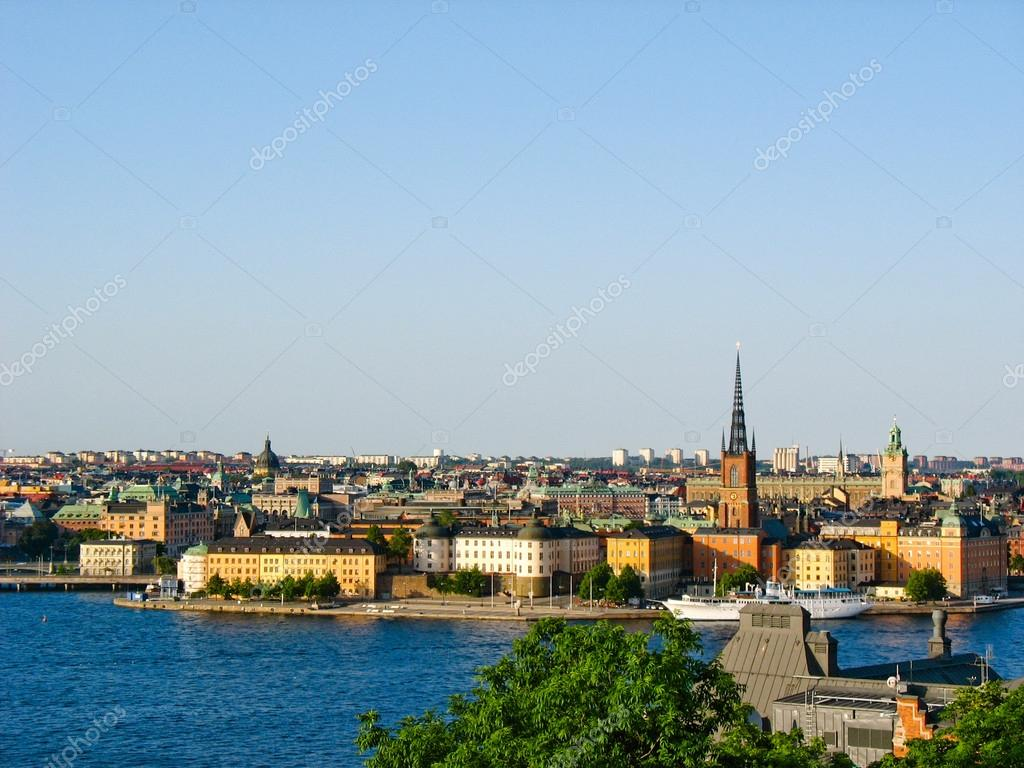 View on Stockholm and the Baltic Sea