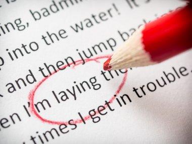 Proofreading essay errors