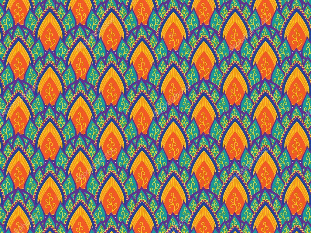 Indian Pattern — Stock Vector © krishnasomya #13873039