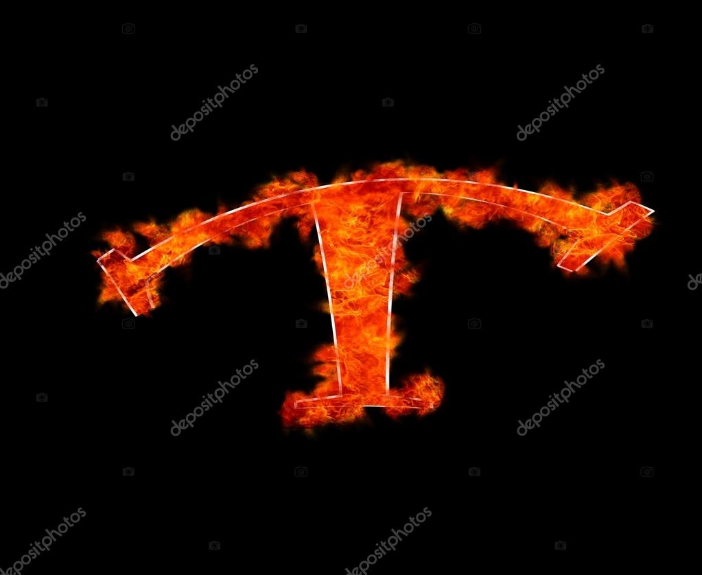T burning stock photo stockphotoastur 20009989 illustration with a letter t in burning photo by stockphotoastur altavistaventures Choice Image