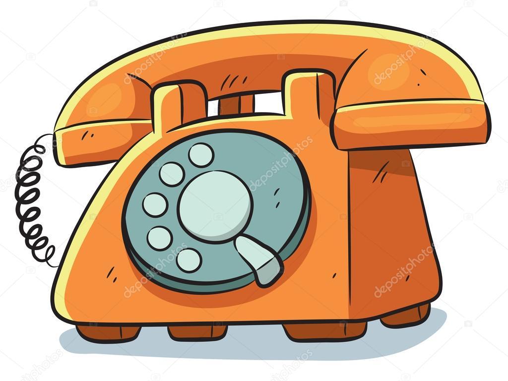 Teléfono Antiguo — Vector De Stock