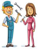 Mechanik, muž a žena