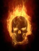 Fotografia cranio di masterizzazione in calda fiamma