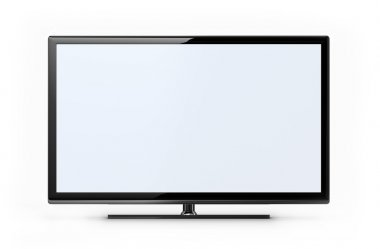TV screen - white stock vector