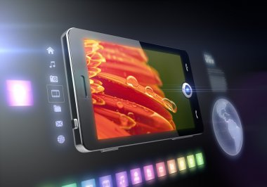 Mobile phone touch screen features
