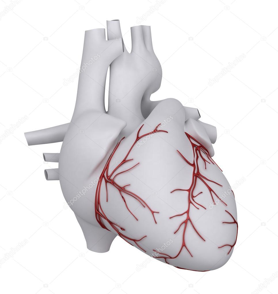 menschlichen Herzens mit Herzinfarkt — Stockfoto © CLIPAREA #13280542