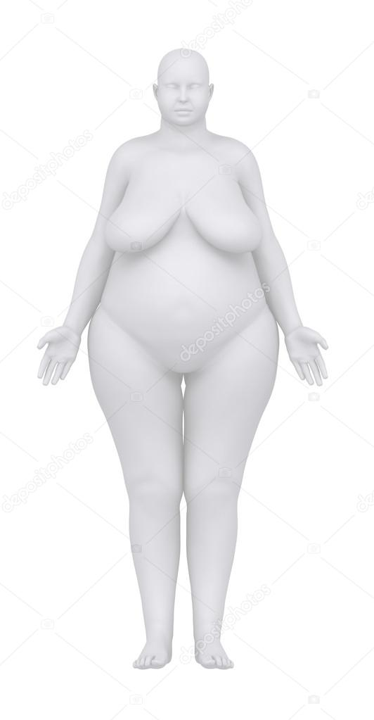 mujer obesa en vista anterior posición anatómica — Foto de stock ...