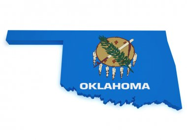 Oklahoma Map 3d Shape