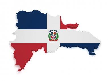 Dominican Republic Map 3d Shape
