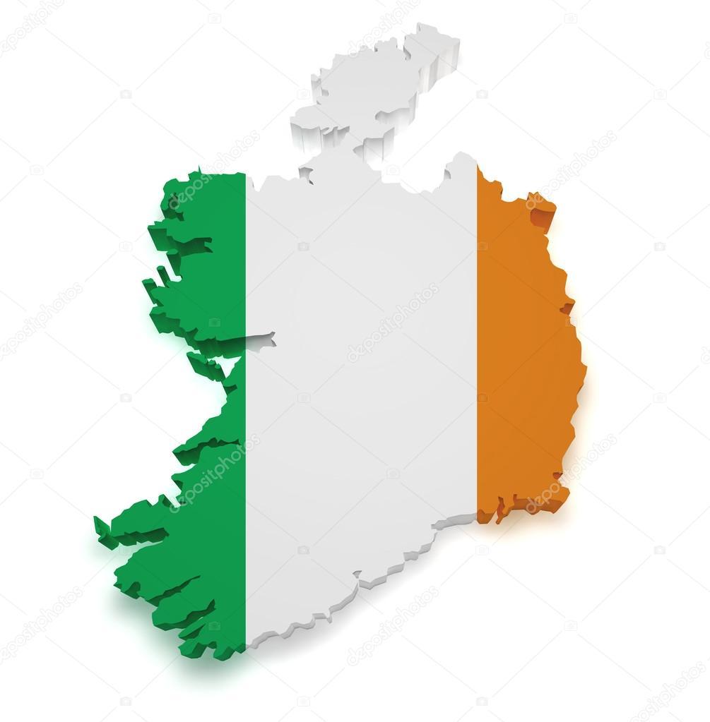 Map Of Ireland 3d.Ireland Map 3d Shape Stock Photo C Nirodesign 14225965