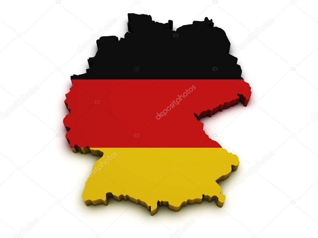 Germany Flag Map Shape Stock Photo NiroDesign - Germany map shape