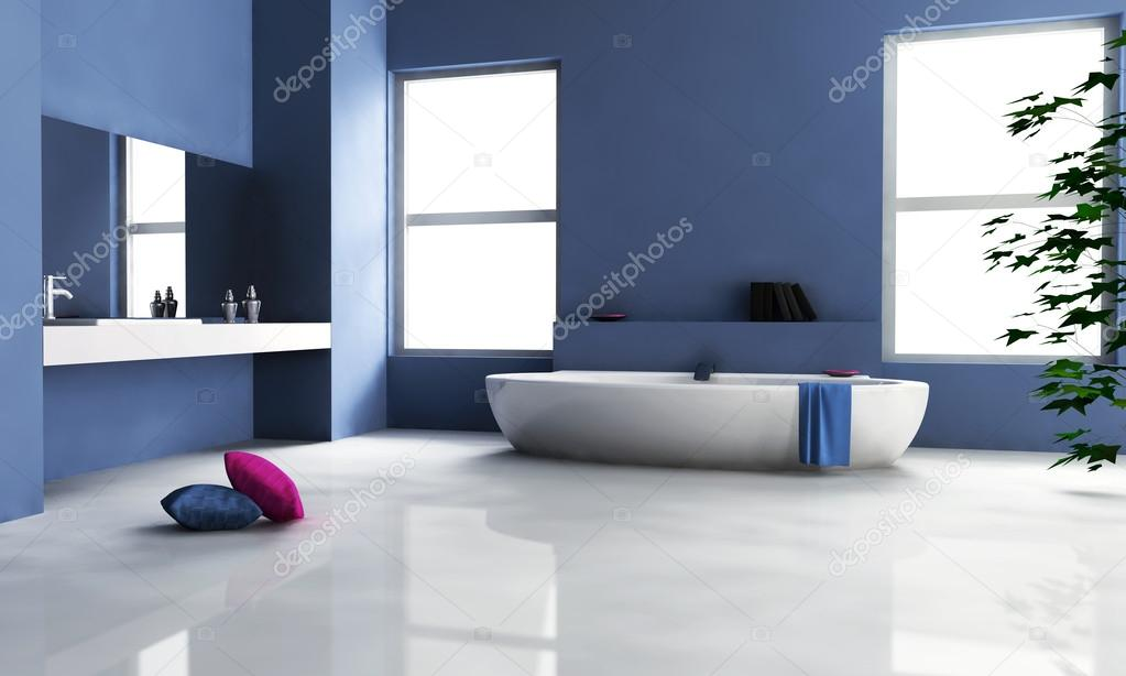 blaue Bad Interior-design — Stockfoto © NiroDesign #16813601