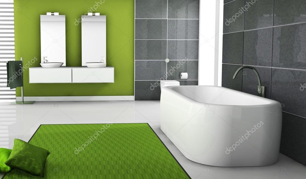 décoration de salle de bain vert — Photographie NiroDesign © #16813609