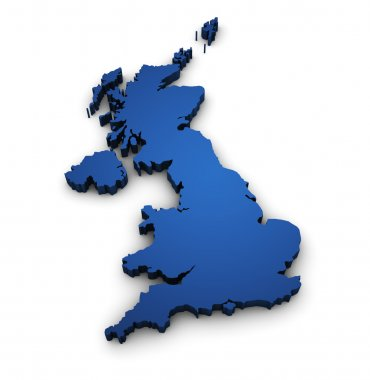 Map Of United Kingdom 3d Shape
