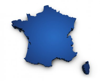 Map Of France 3d Shape