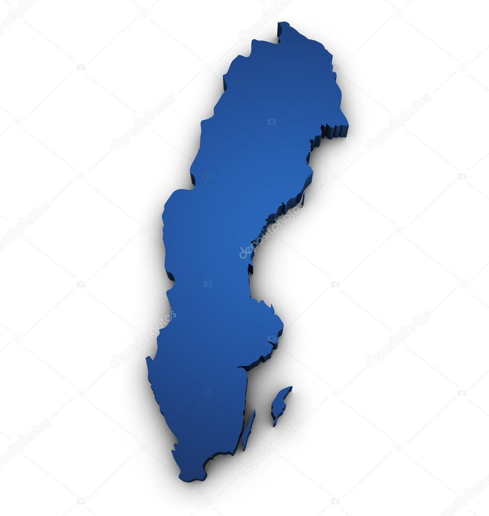 Map Of Sweden 3d Shape — Stock Photo © NiroDesign #34334303  D Map Of Sweden on street view of sweden, outline map of sweden, blackout map of sweden, interactive map of sweden, travel map of sweden, coloring map of sweden, cartoon map of sweden, cute map of sweden, vintage map of sweden, hd map of sweden, food map of sweden, terrain map of sweden, print map of sweden, google map of sweden, black map of sweden,