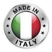 fatto nel distintivo dargento Italia