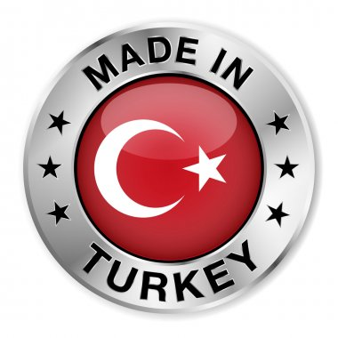 Made In Turkey Silver Badge