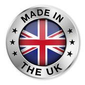 Fotografie hergestellt in Großbritannien Silber-Abzeichen