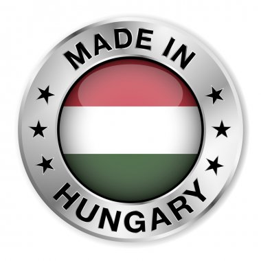 Made In Hungary Silver Badge