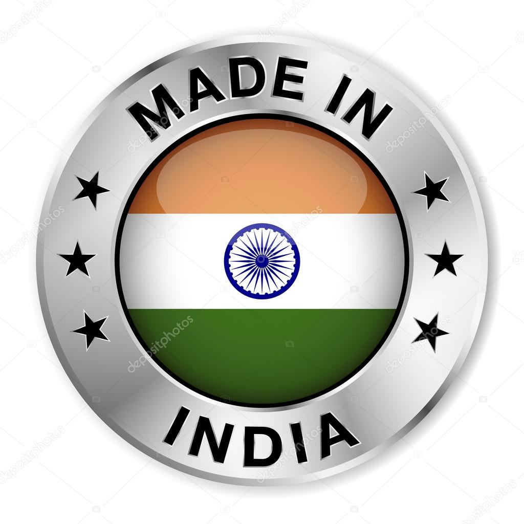 Made In India Silver Badge