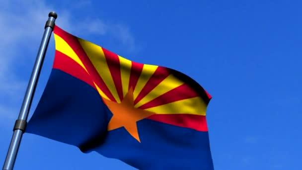 Arizona zászló integet a blue sky hd