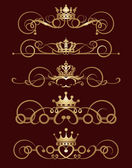 Fotografie Vector set. Victorian Scrolls and crown. Decorative elements.