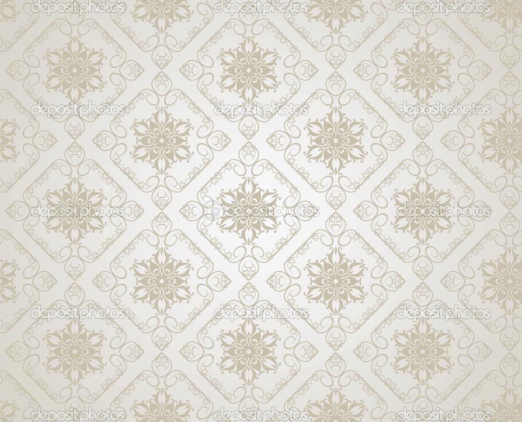 Behang Met Patroon : Achtergrond retro behang patroon naadloze vector u stockvector