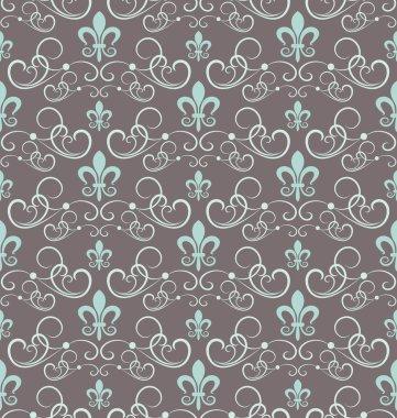 Damask decorative wallpaper for walls vector vintage seamless patterns