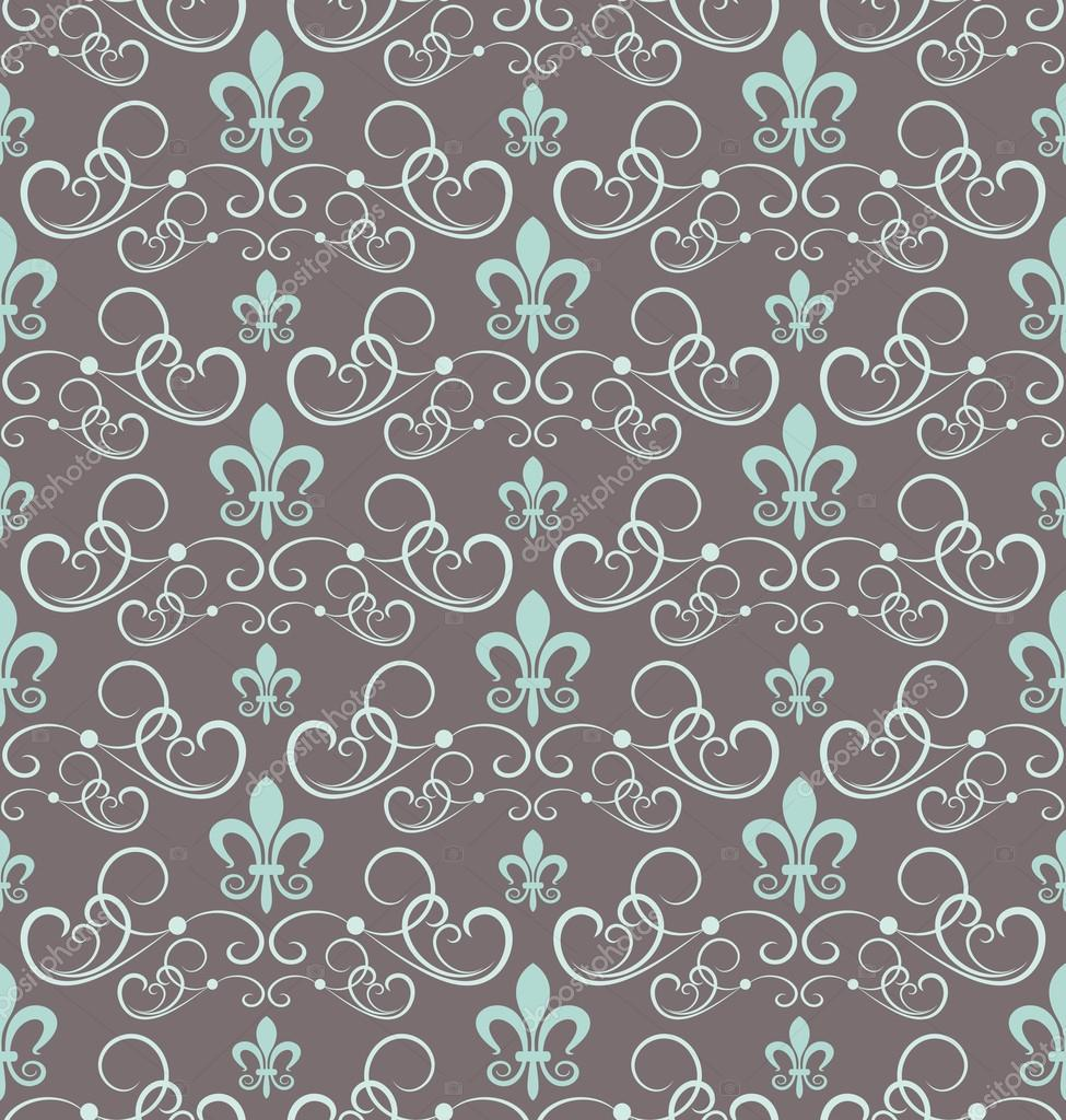 Damasco papel de parede decorativo para paredes vector for Papel de pared plata