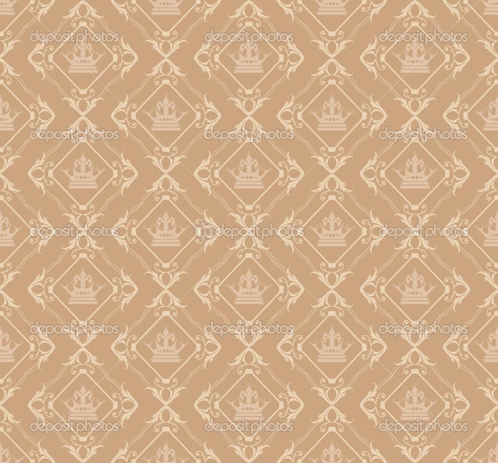 Damask decorative wallpaper for walls vintage seamless patterns ...