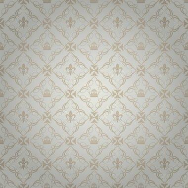 Damask decorative wallpaper. vector vintage pattern.