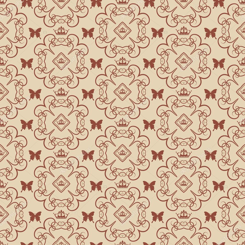 Damaris Dekorative Tapete Für Wände Vektor Vintage Nahtlose Muster Abstrakt  U2014 Vektor Von Kio777