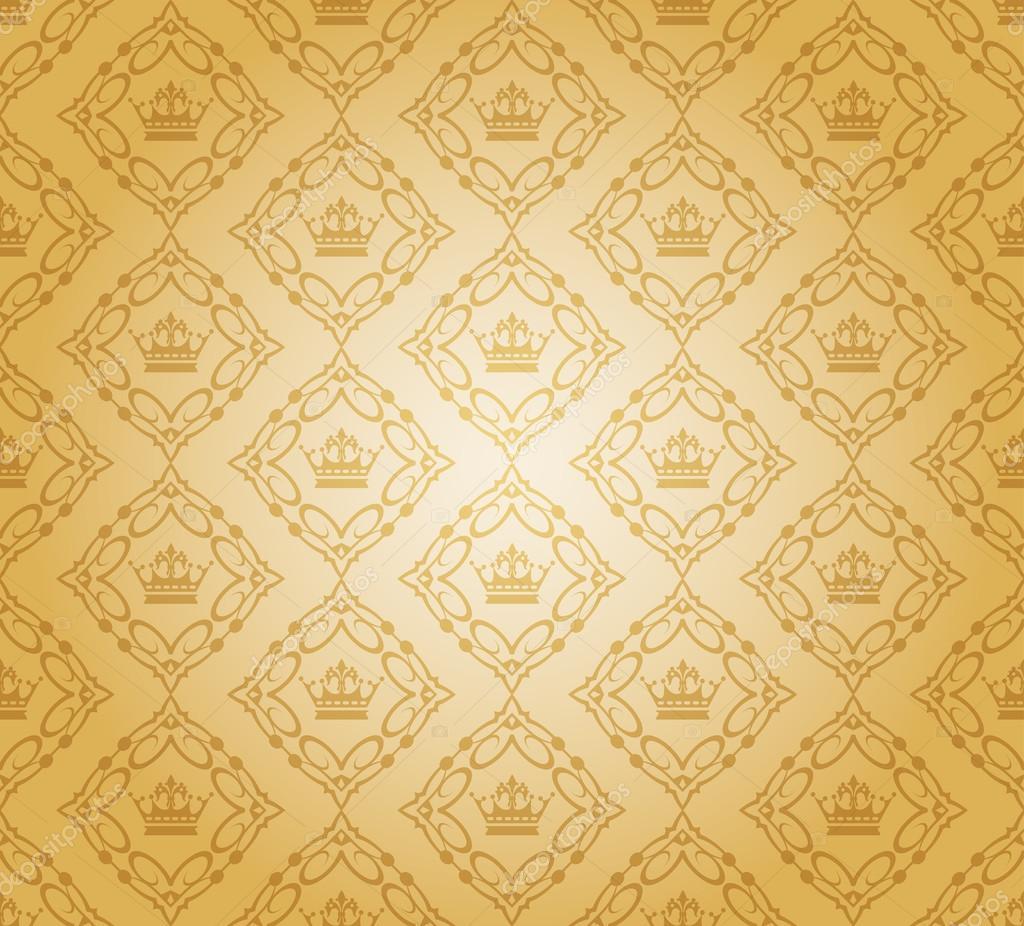 Retro illustration damask decorative wallpaper. vector vintage ...