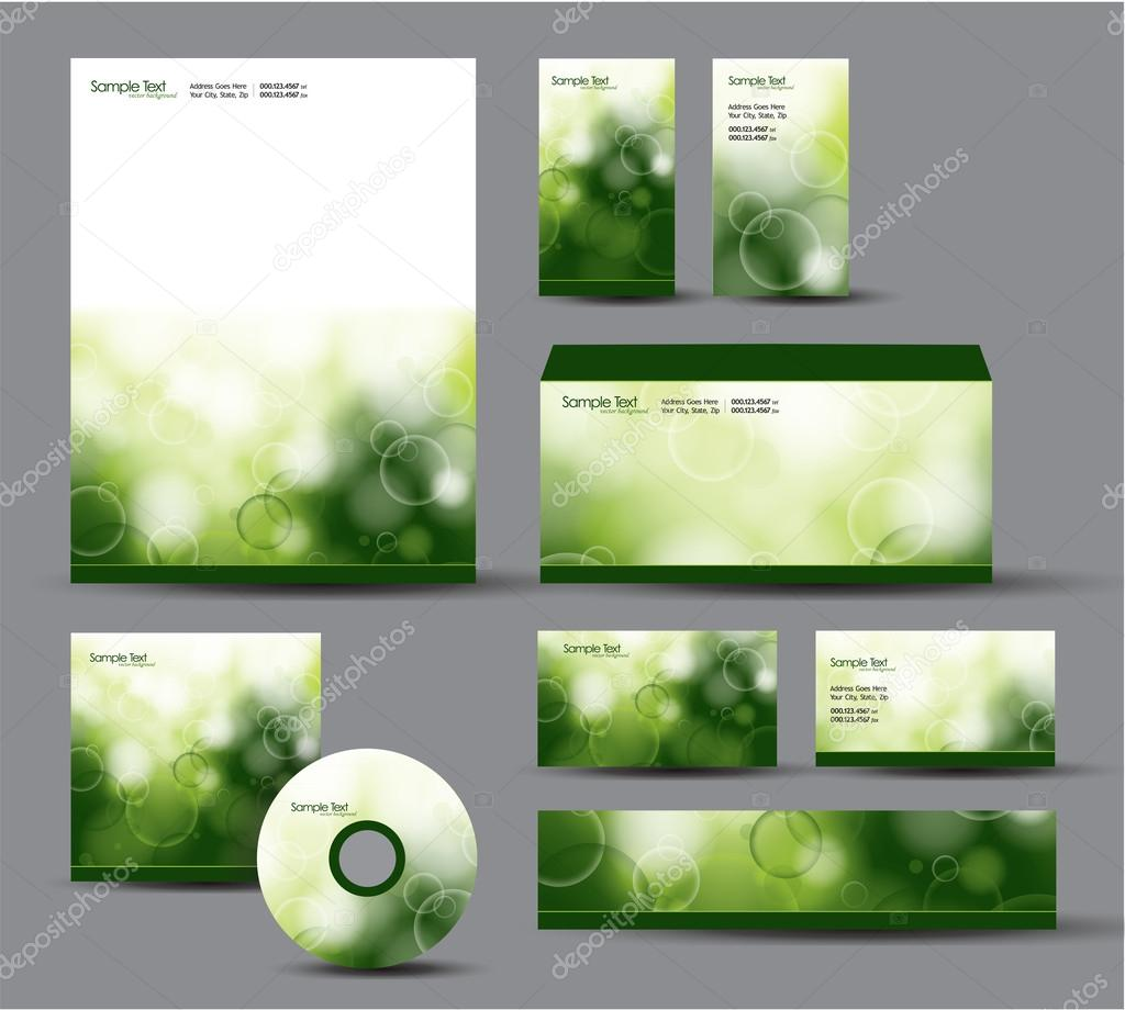 Modern Identity Package. Vector Design. Letterhead, business cards ...