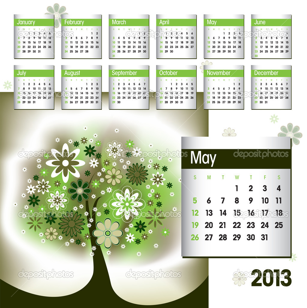 2013 Calendar May Stock Vector C Zoyaart 19724551