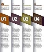 modern vector design sablon. számozott bannerek. grafikus vagy website elrendezés. eps10.
