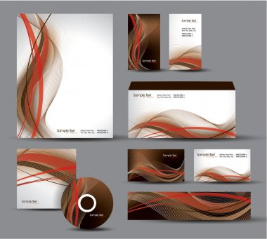 Modern Identity Package. Vector Design. Letterhead, business cards, cd, dvd, envelope, banner, header.