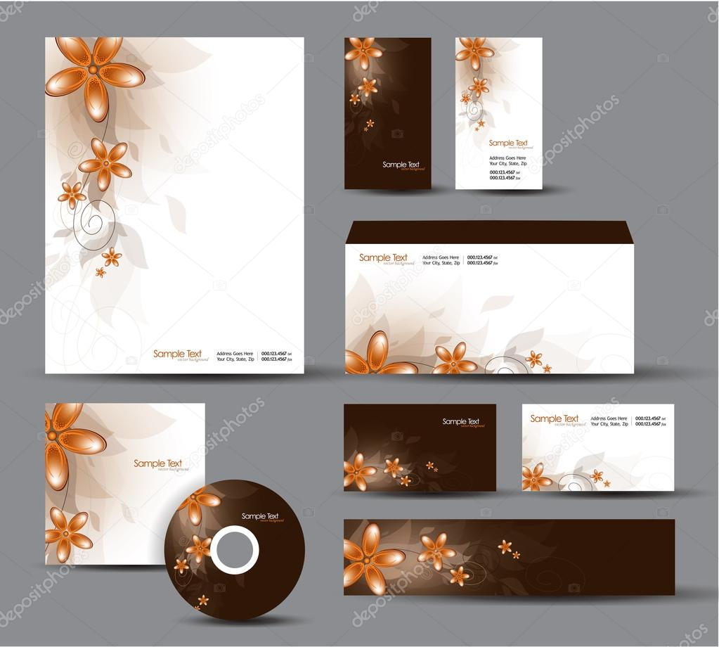 Paquet Didentite Moderne Conception De Vecteur Papier A En Tete Cartes Visite Cd Dvd Enveloppe Banniere Illustration Stock