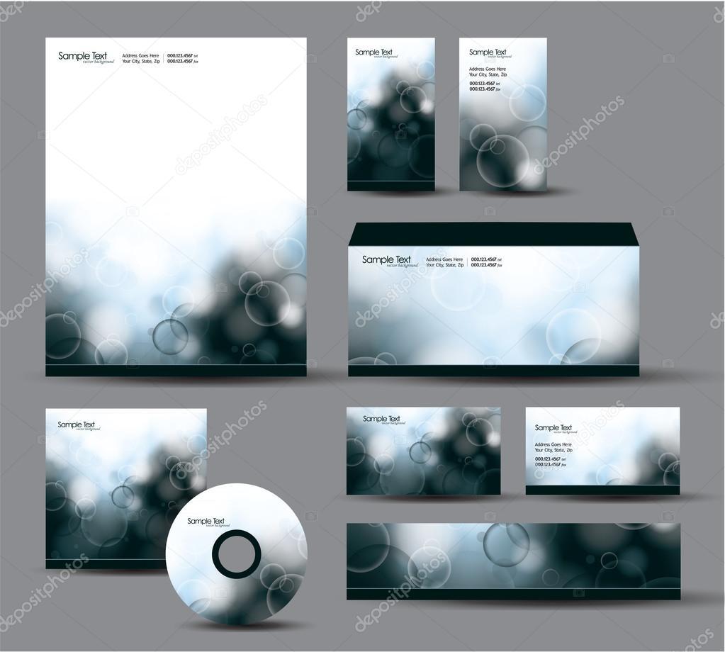 Modern Identity Package. Vector Design. Letterhead, business cards ...