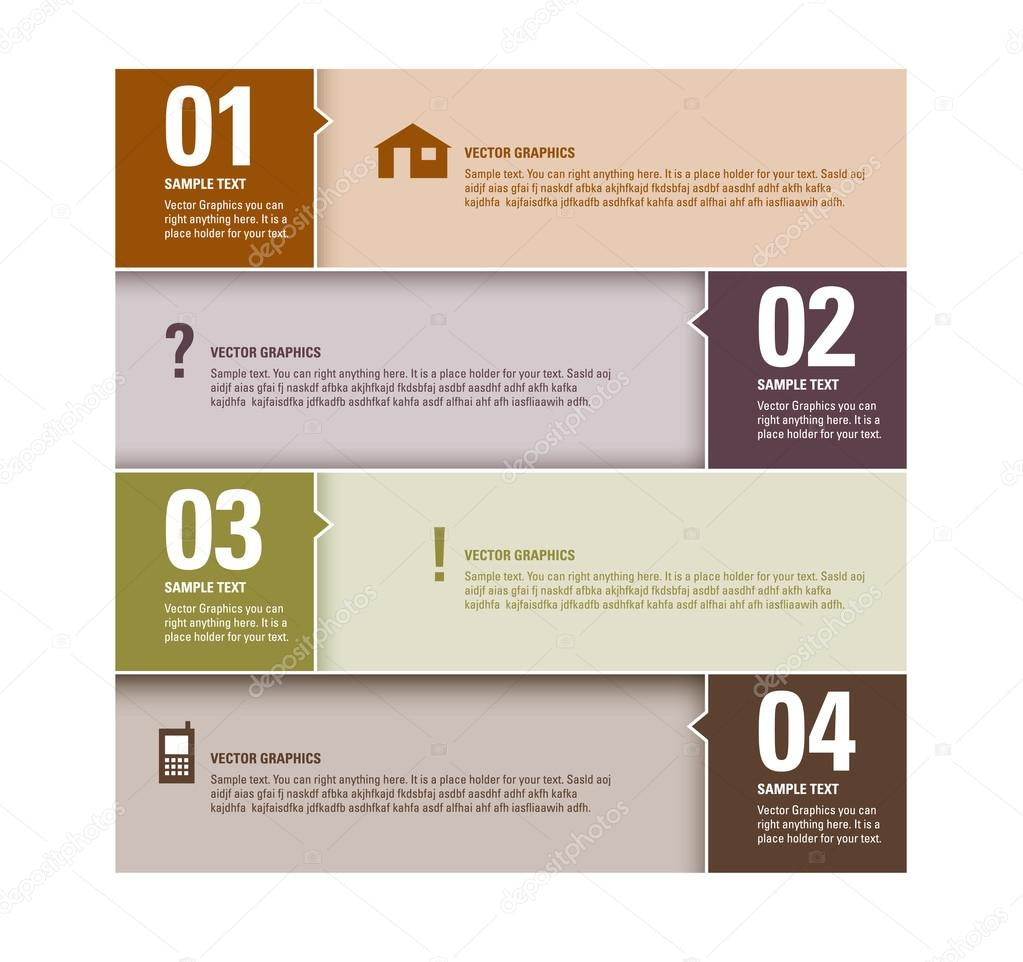 Modern vector design template numbered banners graphic for Layout design online