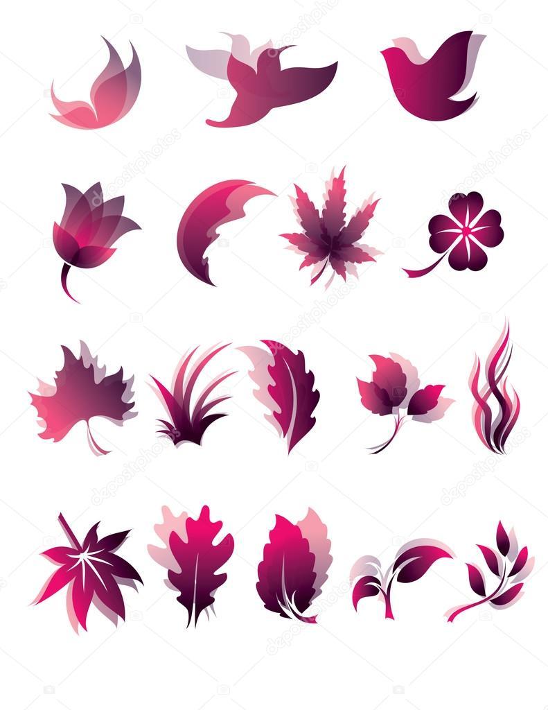 Nature icon set. Eps10.