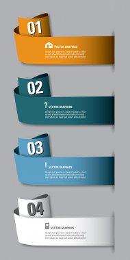Modern options banner. Vector illustration. Eps10.