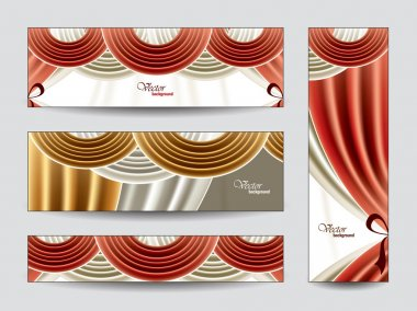 Set of Vector Banners. Abstract Background.