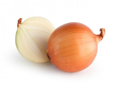 Onions isolated with clipping path